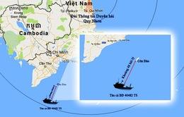 Tàu cá Bình Định bị tàu cào đôi của tỉnh Kiên Giang đâm chìm