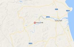 Quảng Ngãi: Hỏa hoạn thiêu rụi xe ô tô tải trên đèo Violắc