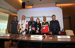 Họp báo bảng B môn bóng đá nam SEA Games 29: Mục tiêu của U22 Việt Nam là chức vô địch!