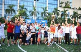 Đội bóng đá VTV vô địch Giải Press Cup 2017 khu vực Hà Nội