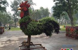 Ngộ nghĩnh 12 con giáp khổng lồ bằng cây xanh ở Hà Nội