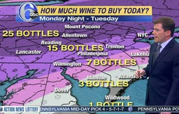 Nhà khí tượng học bị chỉ trích vì đùa giỡn với bản tin dự báo thời tiết