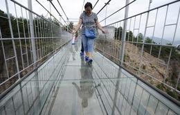 Độc đáo cầu treo bằng kính tại Trung Quốc