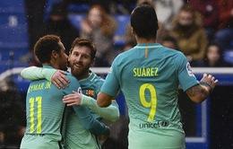 Deportivo Alaves 0-6 Barcelona: Show diễn của tam tấu MSN