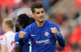 VIDEO Stoke City 0-4 Chelsea: Hattrick ngoạn mục của Morata