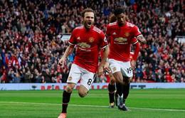 Juan Mata ghi bàn trong trận đấu thứ 200 tại Premier League