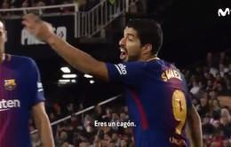 Suarez bị tố lăng mạ trọng tài trận Valencia – Barcelona