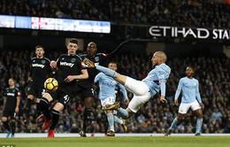 VIDEO: Tổng hợp diễn biến trận Man City 2-1 West Ham