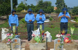 Đăk Lăk: An táng hài cốt 14 liệt sĩ hy sinh trên chiến trường Campuchia