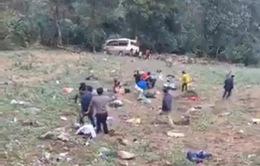 Lào Cai: Tai nạn nghiêm trọng lật xe khách khi đổ đèo