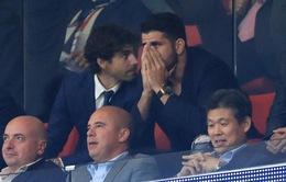 Chelsea hạ Atletico Madrid, Diego Costa thất thần trên khán đài
