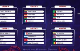 VCK World Cup U20 2017: U20 Việt Nam nằm cùng bảng U20 Pháp, Honduras, New Zealand