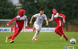 VIDEO: Tổng hợp hiệp 1 trận đấu ĐT nữ Việt Nam - ĐT nữ Iran