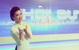 """BTV Khánh Trang với những chiếc áo dài gây """"thương nhớ"""" trong Bản tin 19h"""