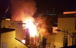 Cháy  ở trung tâm TP.HCM sau tiếng nổ lớn