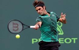 """Vòng 3 Miami mở rộng 2017: """"Tàu tốc hành"""" Roger Federer tiếp tục chiến thắng ấn tượng"""