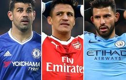 Top 15 cầu thủ dẫn đầu danh sách ghi bàn giải Ngoại hạng Anh