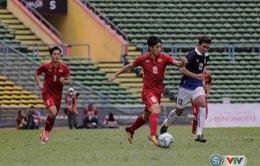 Bóng đá nam SEA Games 29, bảng B: U22 Việt Nam 4-1 U22 Campuchia: Hiệp 2 bùng nổ