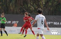 Đài THVN đang sản xuất trực tiếp bóng đá nữ SEA Games 29 trên kênh VTV2