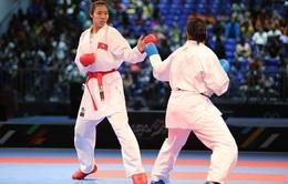 VIDEO SEA Games 29: Thu Hiền giành HCV Karatedo Kumite dưới 68 kg nữ