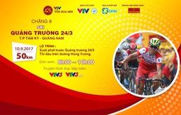 Lộ trình chặng 8 giải xe đạp quốc tế VTV Cúp Tôn Hoa Sen 2017