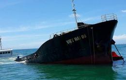 Ninh Thuận khẩn trương cứu hộ tàu chở 3000 tấn hàng chìm trên biển