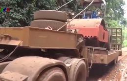 Tuyến quốc lộ 14C tại Kon Tum xuống cấp nghiêm trọng