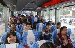Hàng chục chuyến xe miễn phí chở sinh viên ở Thủ đô về quê đón Tết