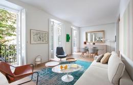 Mẫu thiết kế căn hộ nhỏ hiện đại, màu sắc tươi sáng