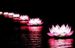 Thắp sáng 7 đài sen khổng lồ ở hồ Xuân Hương