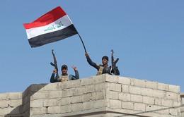 Cờ Iraq giương cao tại thành phố Mosul