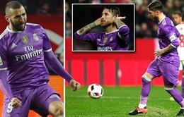 Sevilla 3-3 Real Madrid: Benzema đóng vai người hùng, Real ghi dấu lịch sử