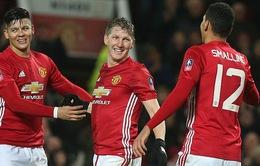 Schweinsteiger rực sáng ngày đá chính, ĐKVĐ Man Utd thẳng tiến vòng 5 FA Cup