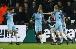 Vòng 23 giải Ngoại hạng Anh: Man City đại thắng West Ham