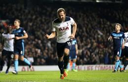 Harry Kane ghi bàn duy nhất giúp Tottenham vươn lên ngôi nhì bảng Ngoại hạng Anh