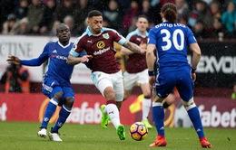 Burnley 1-1 Chelsea: Chia điểm nhọc nhằn ở Turf Moor