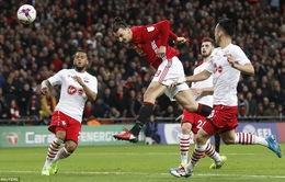 Man Utd 3-2 Southampton: Ibrahimovic lại tỏa sáng, Quỷ đỏ giành cúp nghẹt thở