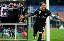 Sergio Ramos tỏa sáng, Real Madrid tái lập chiến thắng lượt đi ngay tại San Paolo