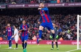 Barca 3-0 Sevilla: Messi lập cú đúp, Barca thắng dễ