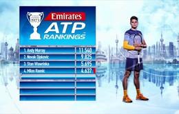BXH quần vợt thế giới ngày 13/2: Federer tăng hạng, Murray & Serena giữ vững ngôi đầu