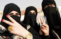 Lần đầu tiên phụ nữ Saudi Arabia tham gia phục vụ người hành hương
