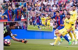 Barcelona 4-1 Villarreal: Messi, Neymar, Suarez cùng nhau toả sáng, Barca dẫn đầu La Liga