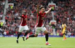 """Man Utd 2-0 Crystal Palace: """"Những đứa trẻ"""" của Mourinho ra mắt mỹ mãn"""