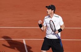 Tứ kết Pháp mở rộng 2017: Andy Murray ngược dòng ngoạn mục trước Kei Nishikori