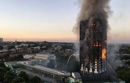 Kinh hoàng hiện trường vụ cháy tòa tháp tại London