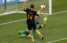 Cúp Liên đoàn các châu lục 2017, ĐT Chile 1-1 ĐT Australia: Chia điểm bất ngờ