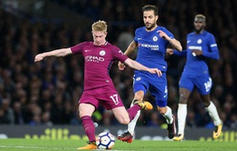 Chelsea 0-1 Man City: De Bruyne tỏa sáng, Man City giành lại ngôi đầu