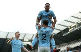 Kết quả, BXH Ngoại hạng Anh 2017 sau vòng 8: Man City chiếm lĩnh ngôi đầu, Chelsea, Arsenal thua sốc