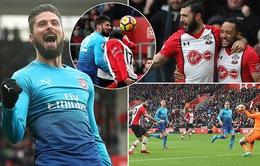 Chia điểm trước Southampton, Arsenal chưa thể tiến vào tốp 4