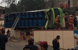 Tai nạn xe bus 2 tầng ở Peru, 8 người thiệt mạng